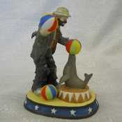 Circus Clown with Seal and Balls