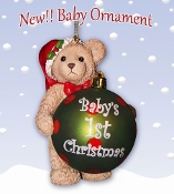 Baby Santa Bear ornament
