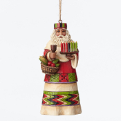 African Around the World Santa Ornament