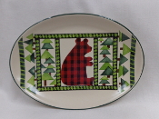 Mountain Pine Bear Platter