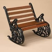 Lucky's Cast Iron & Wood Bench